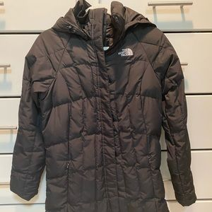 Mid length North Face jacket- size XS